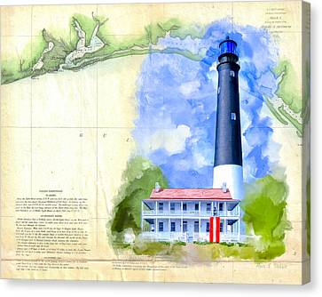 Historic Florida Panhandle - Pensacola Canvas Print by Mark Tisdale