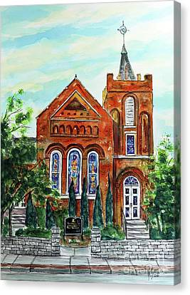 Historic Franklin Presbyterian Church Canvas Print by Tim Ross
