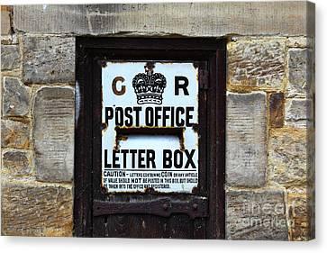Historic Georgian Letter Box Detail Canvas Print by James Brunker