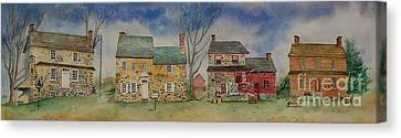 Historic Homes Of Chadds Ford Canvas Print by Bruce Poulterer