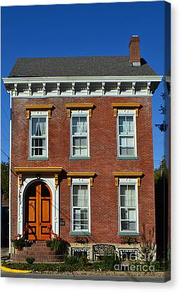 Historic Madison Row House Canvas Print by Amy Lucid