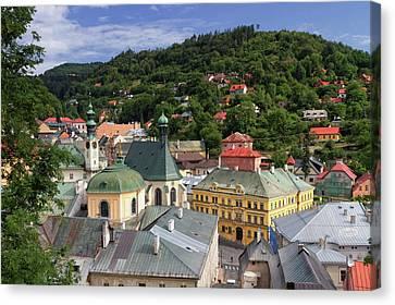 Historic Mining Town Banska Stiavnica, Slovakia Canvas Print