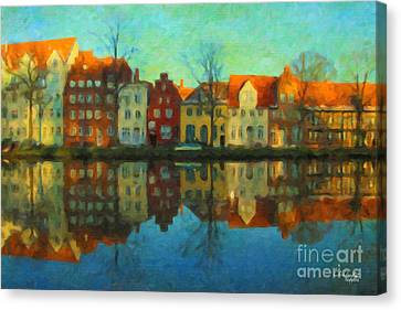 Historic Old Town Lubeck Canvas Print by Chris Armytage