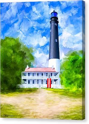 Historic Pensacola Light Canvas Print by Mark Tisdale
