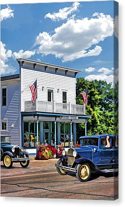 Pioneers Canvas Print - Historic Pioneer Store In Ellison Bay Door County by Christopher Arndt