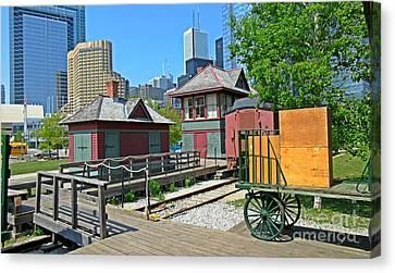 Historic Railway Site In Toronto Canvas Print by John Malone