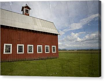 Historic Red Barn Canvas Print by Bonnie Bruno