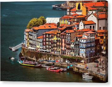 Historic Ribeira Porto  Canvas Print by Carol Japp