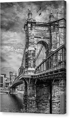 Historic Roebling Bridge Canvas Print by Diana Boyd