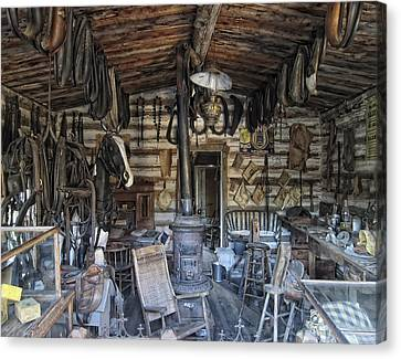Sullivan Canvas Print - Historic Saddlery Shop - Montana Territory by Daniel Hagerman