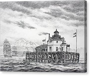 Historic Semiahmoo Lighthouse  Canvas Print by James Williamson