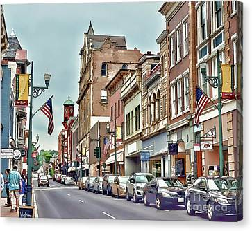 Canvas Print featuring the photograph Historic Staunton Virginia - Art Of The Small Town  by Kerri Farley