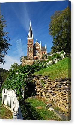 Historic Stone Church Harper's Ferry Canvas Print by Mark VanDyke