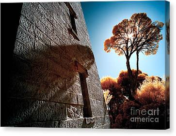 Historic Stone Canvas Print by Russ Brown