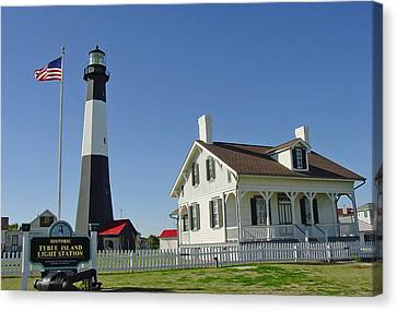 Historic Tybee Island Lighthouse II Canvas Print by Suzanne Gaff