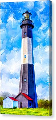 Historic Tybee Island Lighthouse Canvas Print by Mark E Tisdale