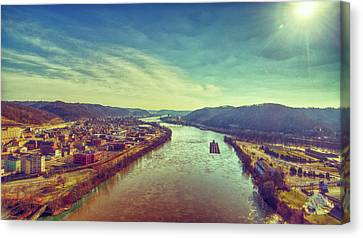 Historic Wheeling West Virginia Canvas Print by Flying Dreams