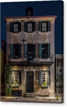 Canvas Print featuring the photograph Historic William Vanderhorst House, Charleston by Carl Amoth
