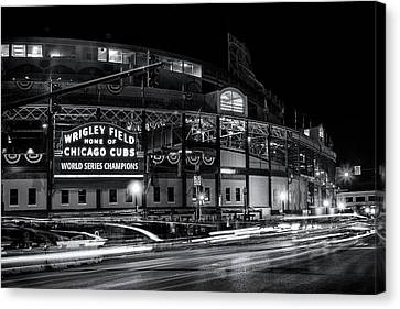 National League Canvas Print - Historic Wrigley Field by Andrew Soundarajan