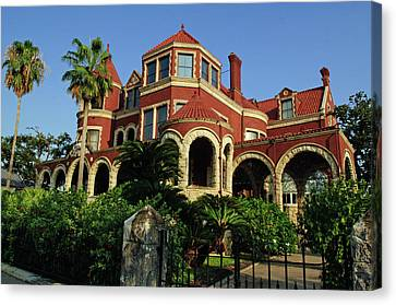 Canvas Print featuring the photograph Historical Galveston Mansion by Tikvah's Hope