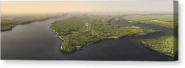 Historical Illustration Of Manhattan Canvas Print by Markley Boyer