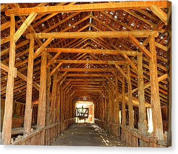 Historical Long Barn Canvas Print by Leland D Howard