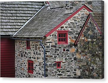 Historical Stones - Only If The Walls Could Talk. Canvas Print by Craig A Schwartz