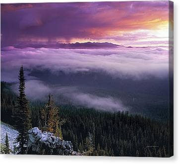 Historical Wilderness View Canvas Print by Leland D Howard
