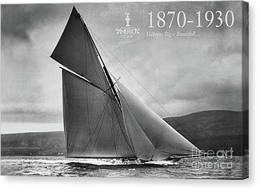 Sausalito Canvas Print - History 1870 -1930 America's Cup by Chuck Kuhn