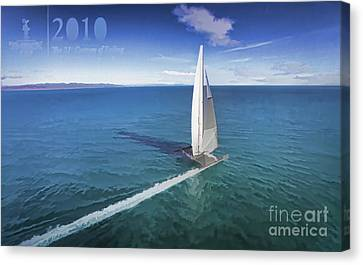 Sausalito Canvas Print - History 2010 America's Cup by Chuck Kuhn