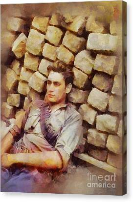 History In Color. French Resistance Fighter, Wwii Canvas Print