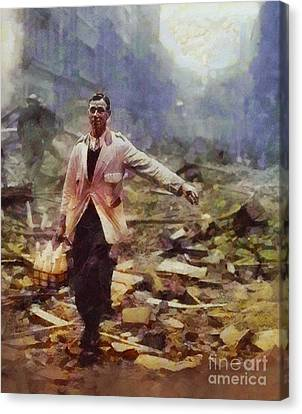 History In Color. Spirit Of The Blitz, Wwii Canvas Print