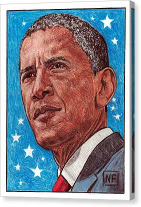Barack Canvas Print - History In Our Lifetime - The Presidency Of Barack Hussein Obama by Neil Feigeles
