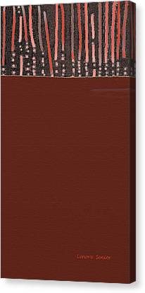 History Of Innocent Blood Canvas Print by Lenore Senior