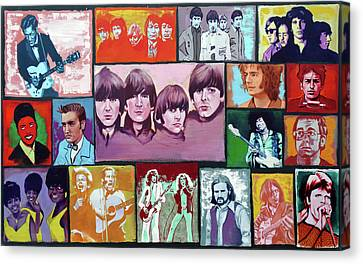History Of Rock And Roll Canvas Print by Duane Potosky