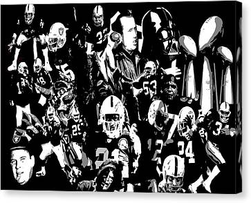 History Raider Nation A Collage Canvas Print by John Farr