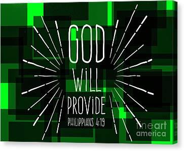 Hisworks Godart 3 Philippians 4 19 The Truth Bible Art Canvas Print by Reid Callaway