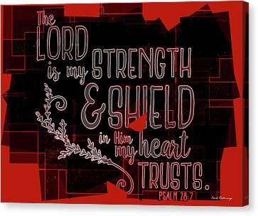 3.14 Canvas Print - Hisworks Godart 8 Psalm 28 7 The Truth Bible Art by Reid Callaway