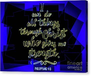 3.14 Canvas Print - Hisworks Godart Philippians 4 13 The Truth Bible Art by Reid Callaway