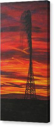 Hit Oil Canvas Print