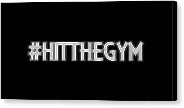 Hit The Gym Canvas Print by Dan Sproul