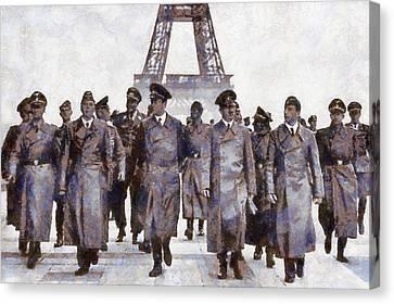 Hitler In Paris Canvas Print by Esoterica Art Agency