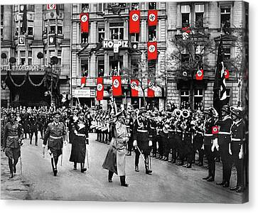Hitler With Goering And Himmler Marching In Munich Germany C.1934-2016  Canvas Print by David Lee Guss