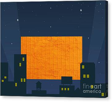 Hitting A Brick Wall Is Nite Life Canvas Print