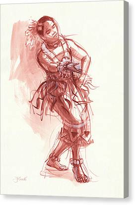 Hiva, Dancer Of Tonga Canvas Print by Judith Kunzle