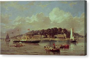 Hm Yacht Victoria Canvas Print by George Gregory