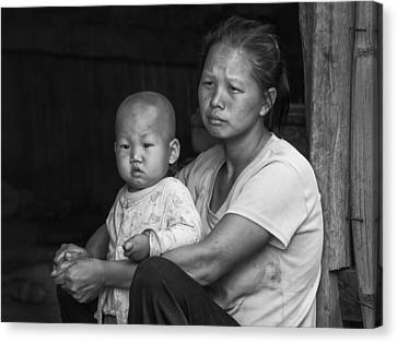 Canvas Print featuring the photograph H'mong Mother And Child by Wade Aiken