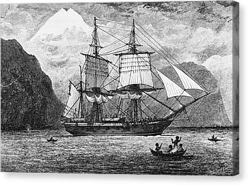 Hms Beagle Canvas Print by R. T. Pritchett