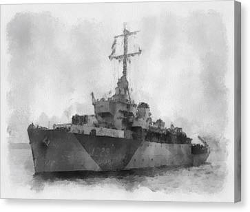 Hms Cockatrice Wwii Canvas Print by Esoterica Art Agency