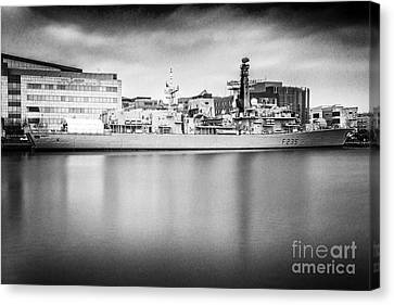 Hms Monmouth Mono Canvas Print by Steve Purnell